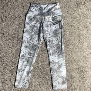marble high waisted leggings